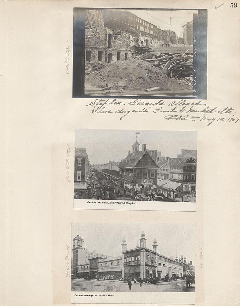 Castner Scrapbook v.6, Market Street, page 59