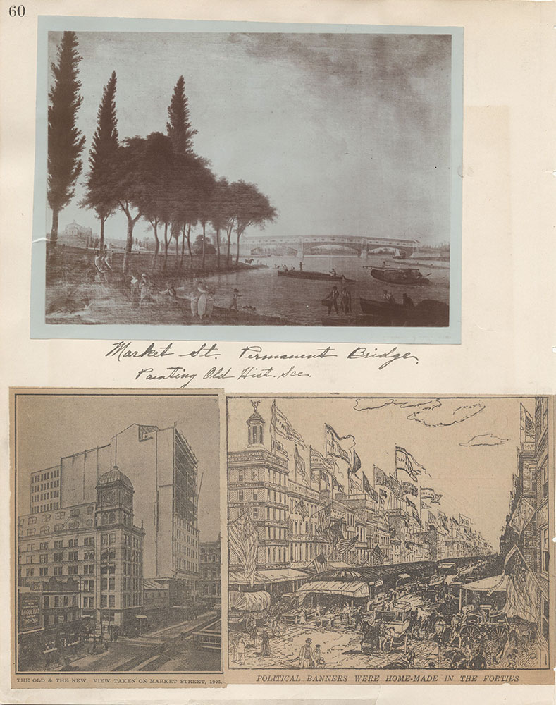 Castner Scrapbook v.6, Market Street, page 60