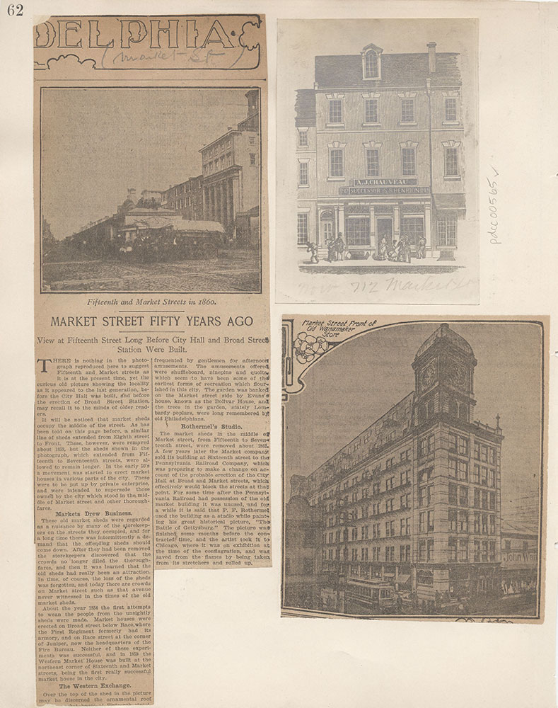 Castner Scrapbook v.6, Market Street, page 62