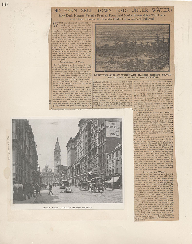 Castner Scrapbook v.6, Market Street, page 66