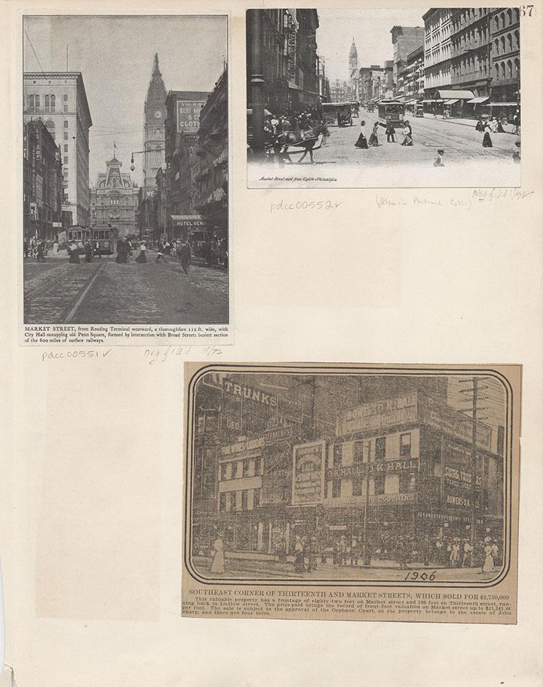 Castner Scrapbook v.6, Market Street, page 67