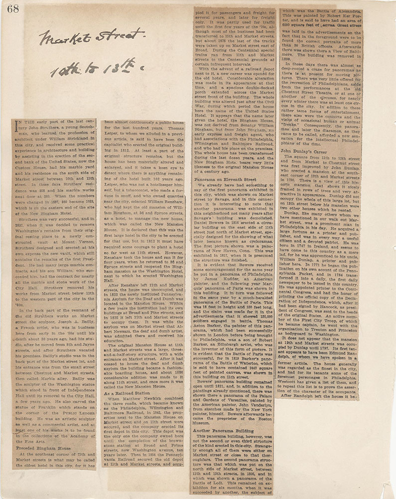 Castner Scrapbook v.6, Market Street, page 68
