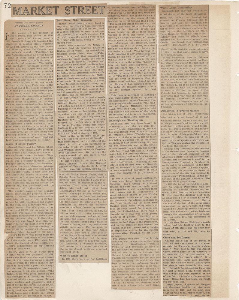 Castner Scrapbook v.6, Market Street, page 72