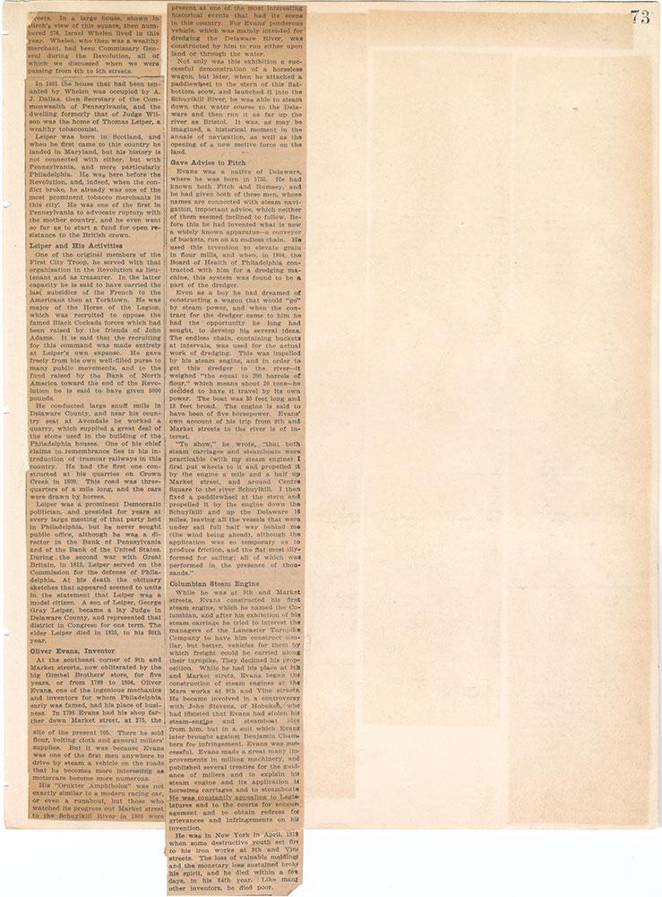 Castner Scrapbook v.6, Market Street, page 73