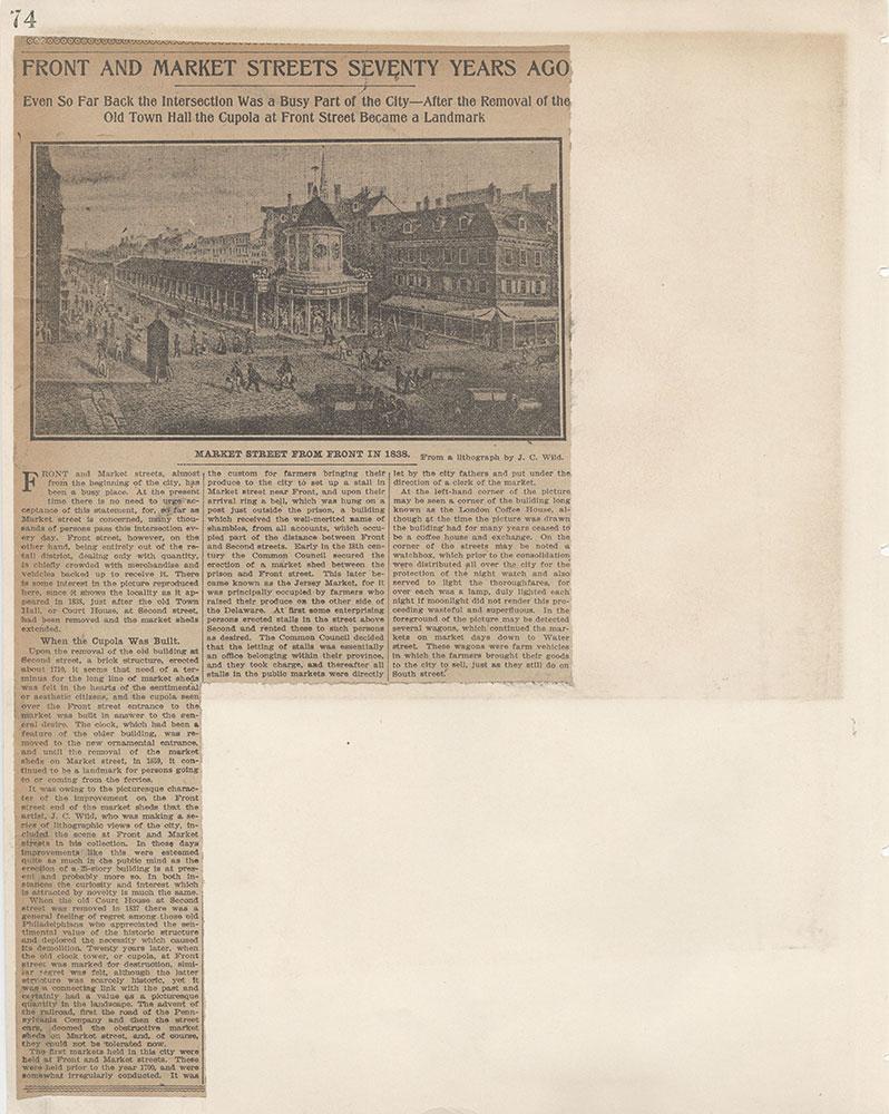 Castner Scrapbook v.6, Market Street, page 74