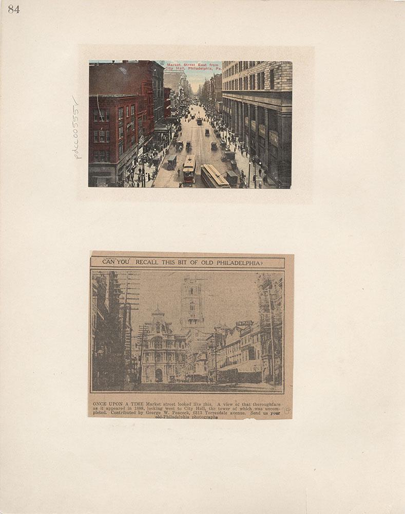 Castner Scrapbook v.6, Market Street, page 84