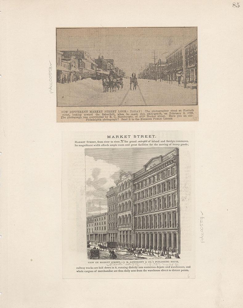 Castner Scrapbook v.6, Market Street, page 85