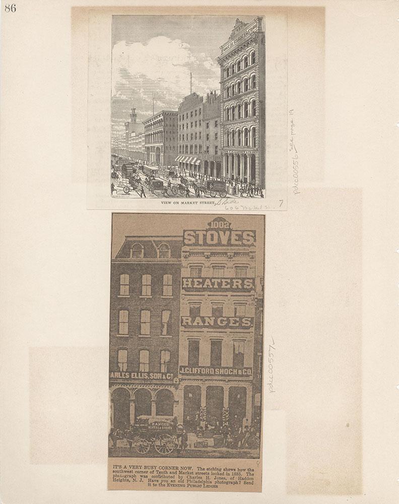 Castner Scrapbook v.6, Market Street, page 86