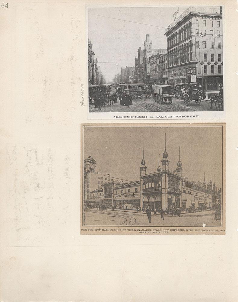 Castner Scrapbook v.6, Market Street, page 64