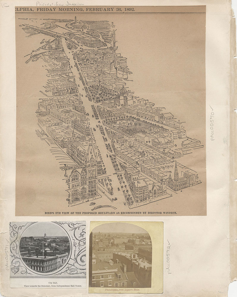Castner Scrapbook v.7, Walks, Views, Maps, page 1C