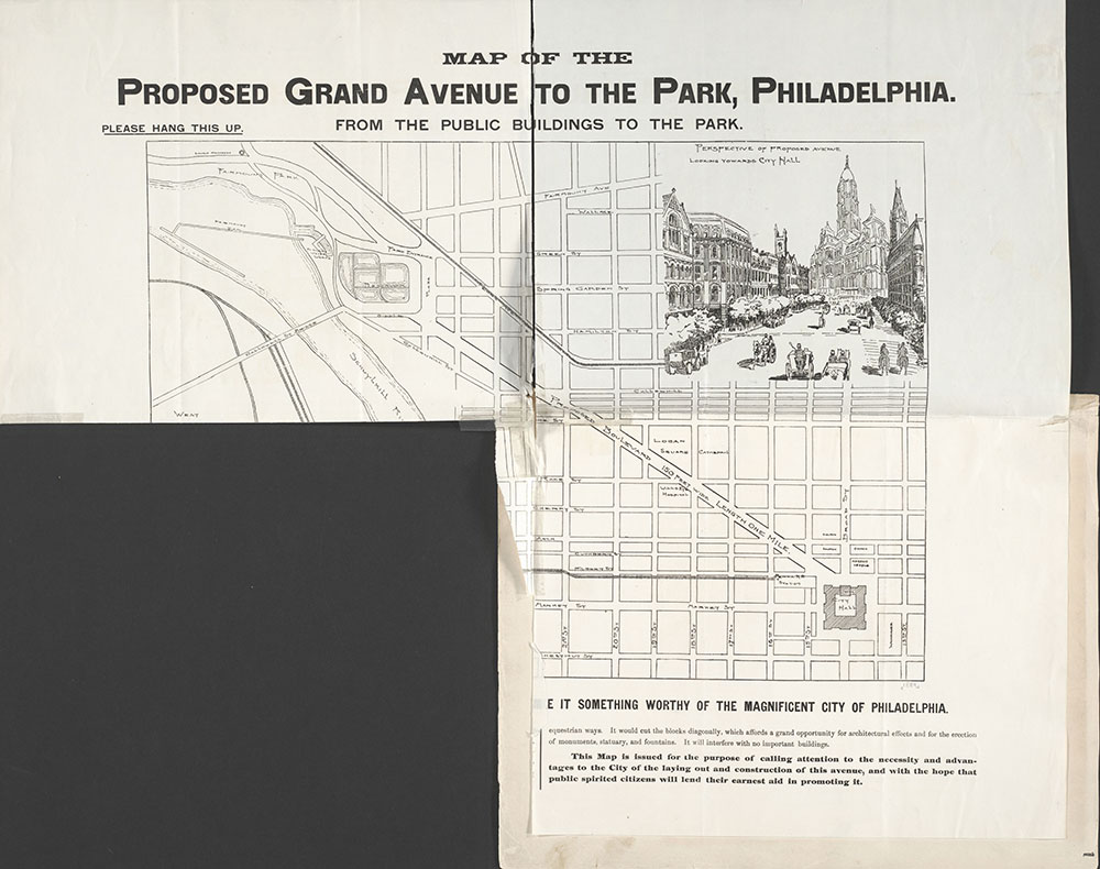 Castner Scrapbook v.7, Walks, Views, Maps, page 1