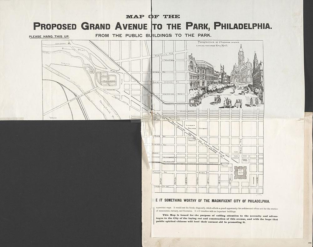 Castner Scrapbook v.7, Walks, Views, Maps, page 1