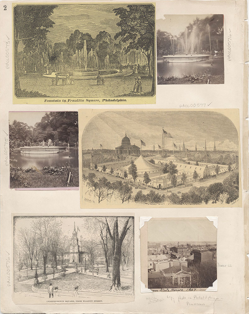 Castner Scrapbook v.7, Walks, Views, Maps, page 2