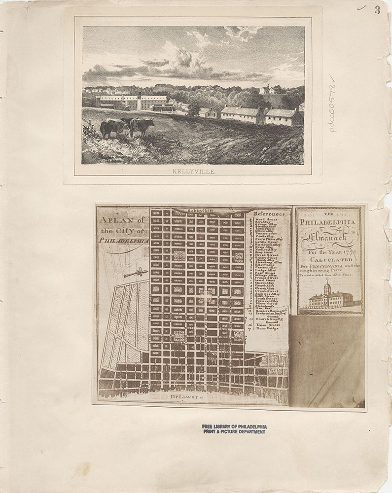 Castner Scrapbook v.7, Walks, Views, Maps, page 3