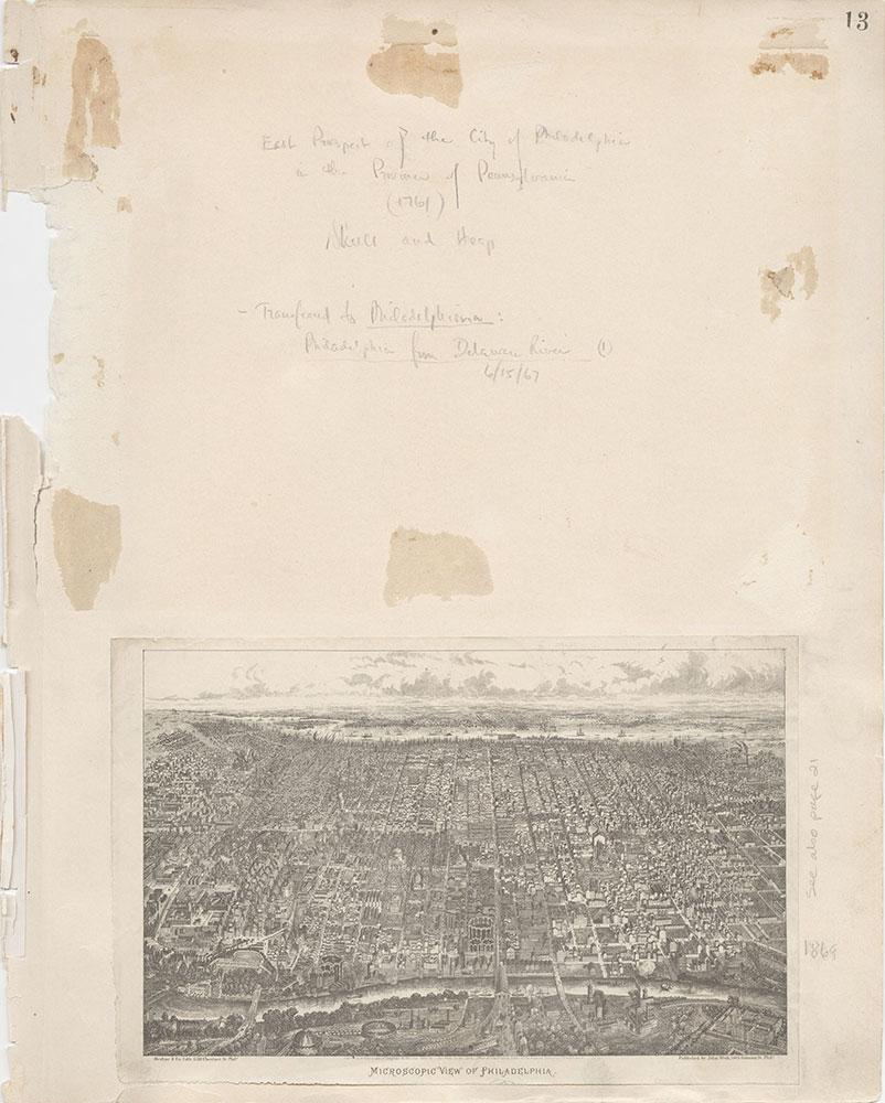 Castner Scrapbook v.7, Walks, Views, Maps, page 13
