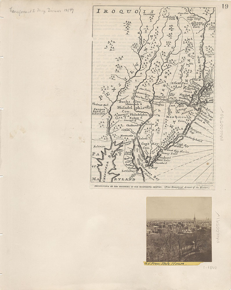 Castner Scrapbook v.7, Walks, Views, Maps, page 19