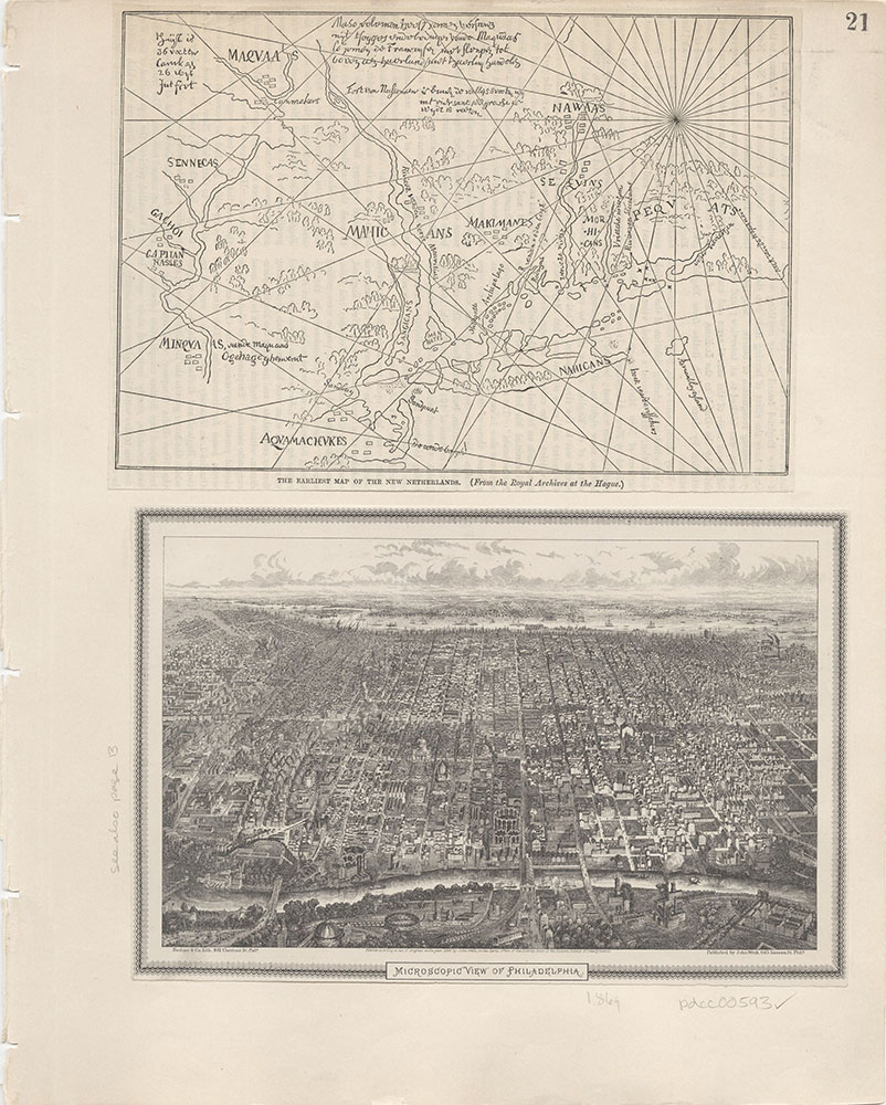 Castner Scrapbook v.7, Walks, Views, Maps, page 21