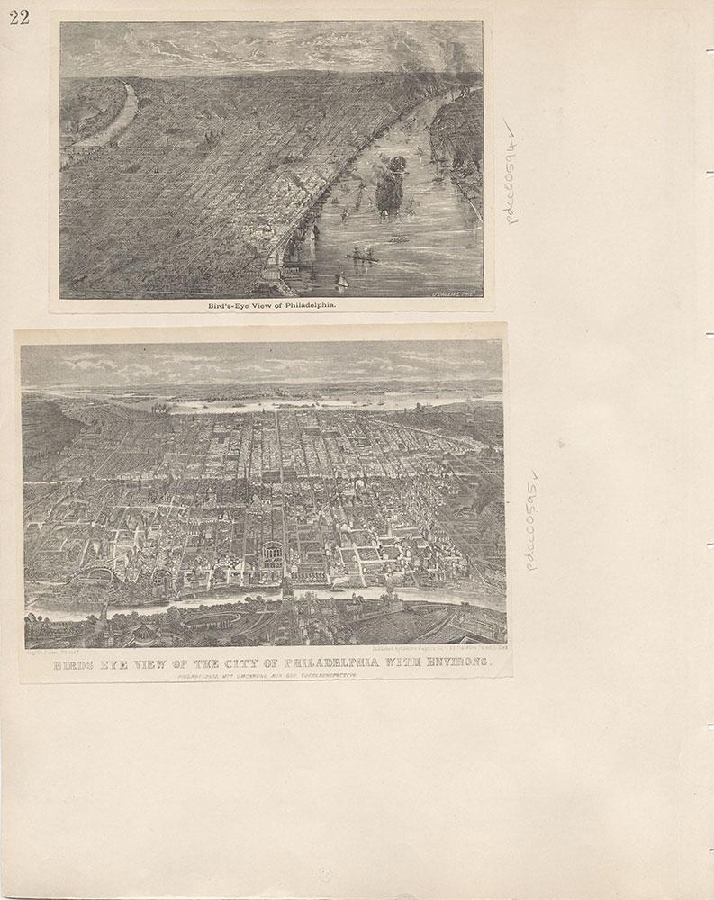 Castner Scrapbook v.7, Walks, Views, Maps, page 22