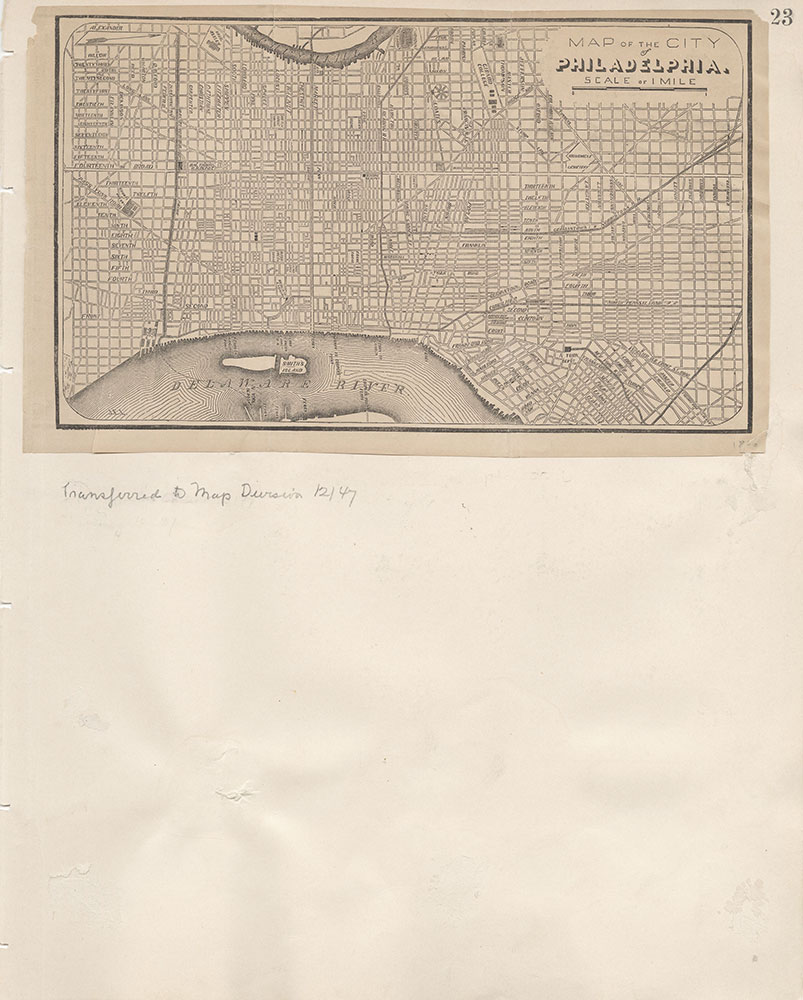 Castner Scrapbook v.7, Walks, Views, Maps, page 23