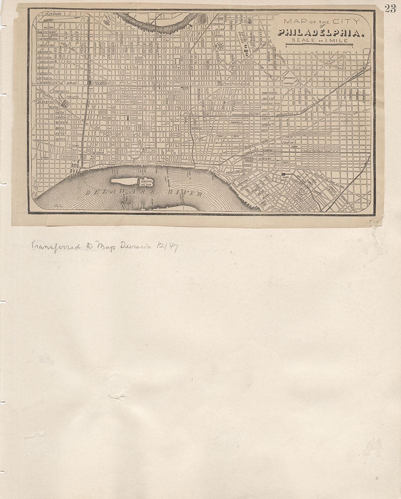 Castner Scrapbook v.7, Walks, Views, Maps, page 23