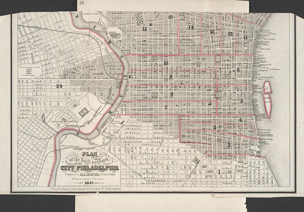Castner Scrapbook v.7, Walks, Views, Maps, page 26