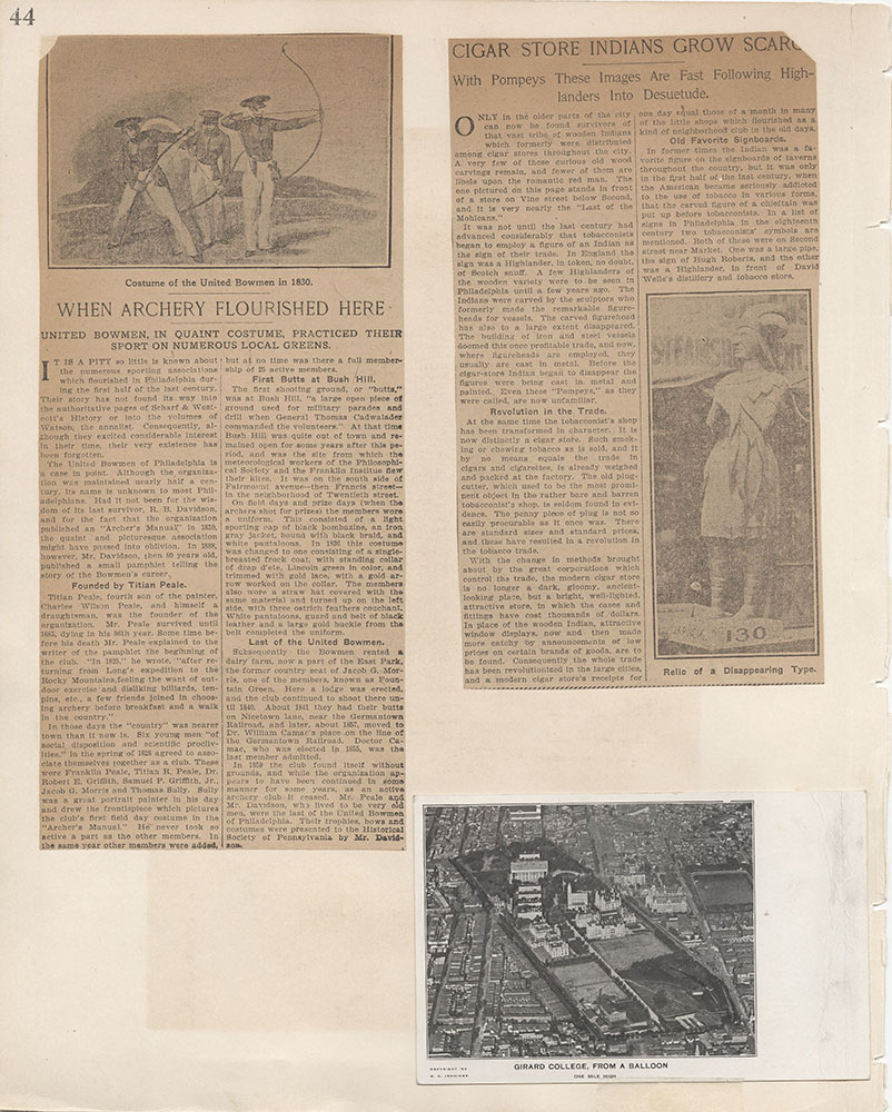 Castner Scrapbook v.7, Walks, Views, Maps, page 44