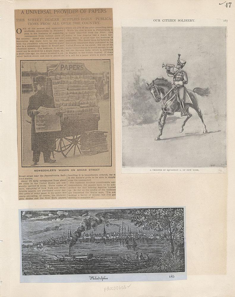 Castner Scrapbook v.7, Walks, Views, Maps, page 47