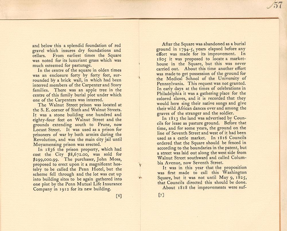 Castner Scrapbook v.7, Walks, Views, Maps, page 57