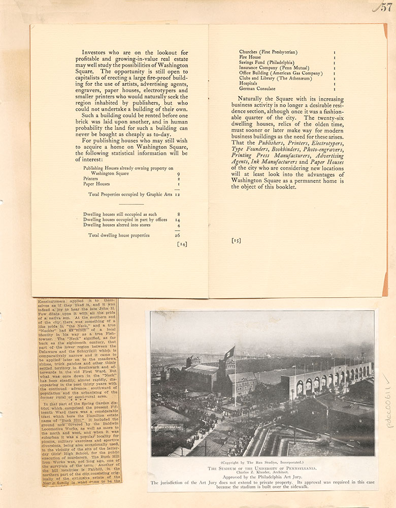 Castner Scrapbook v.7, Walks, Views, Maps, page 57