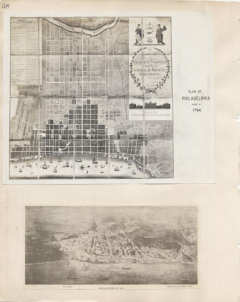 Castner Scrapbook v.7, Walks, Views, Maps, page 58