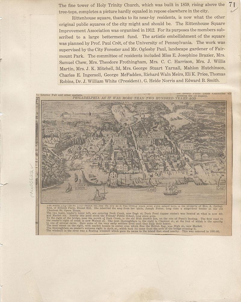 Castner Scrapbook v.7, Walks, Views, Maps, page 71