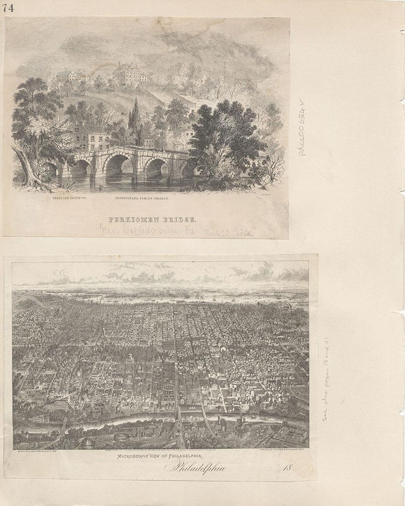 Castner Scrapbook v.7, Walks, Views, Maps, page 74