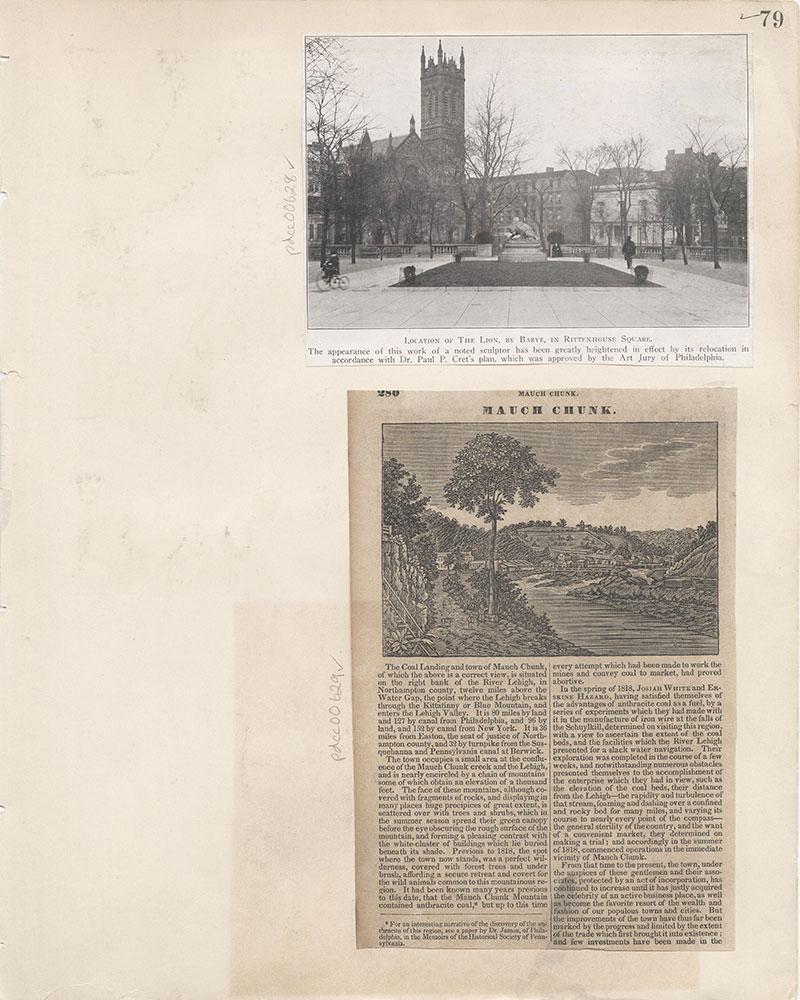 Castner Scrapbook v.7, Walks, Views, Maps, page 79