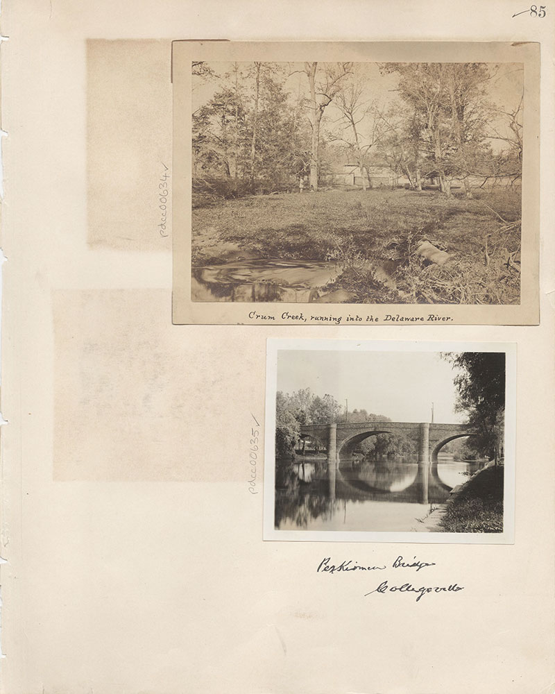 Castner Scrapbook v.7, Walks, Views, Maps, page 85