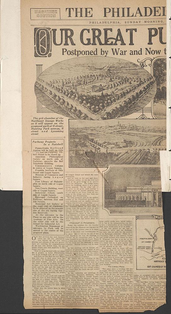 Castner Scrapbook v.7, Walks, Views, Maps, page 88