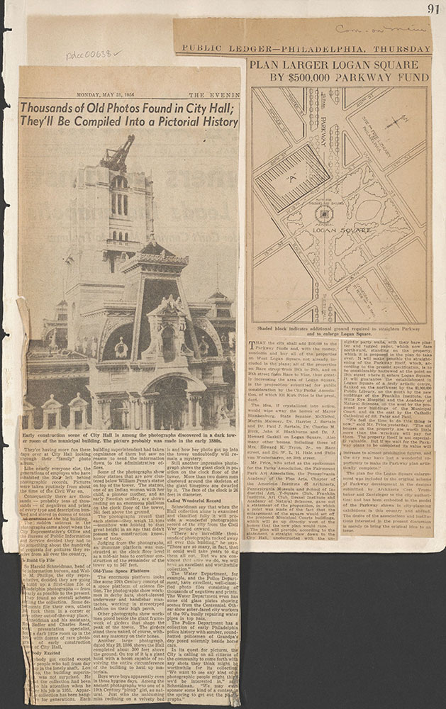 Castner Scrapbook v.7, Walks, Views, Maps, page 91