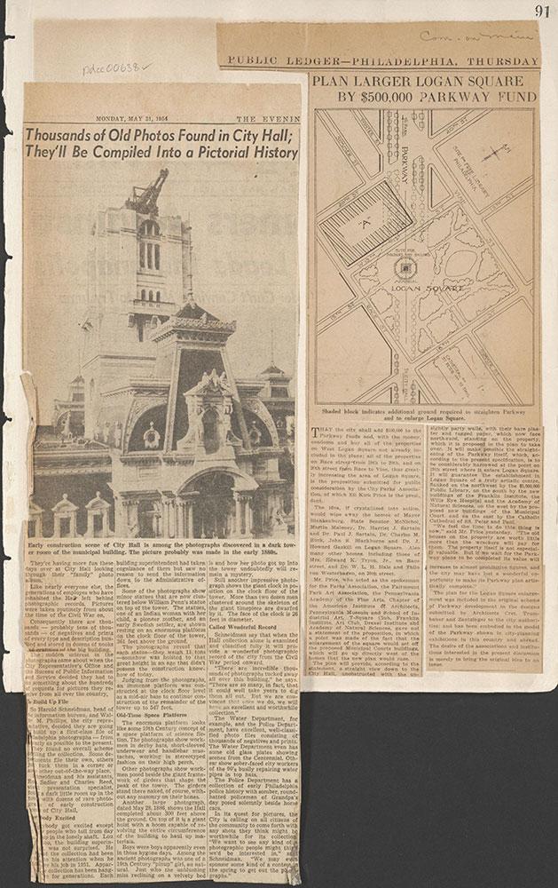 Castner Scrapbook v.7, Walks, Views, Maps, page 91