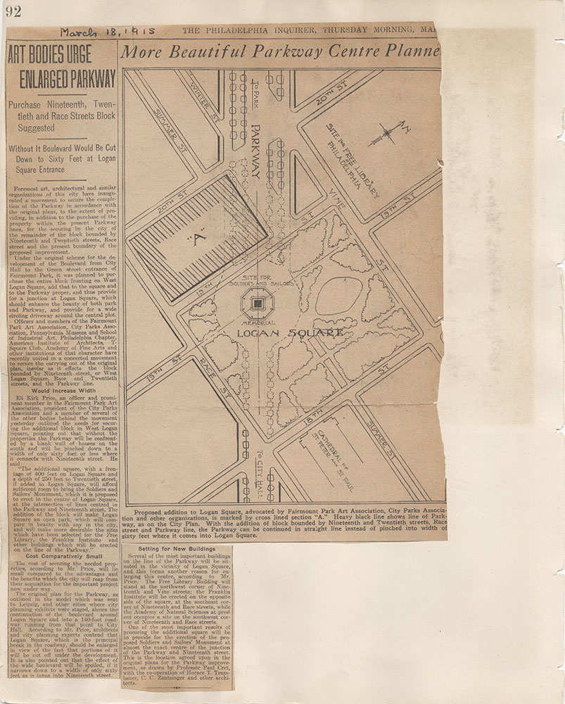 Castner Scrapbook v.7, Walks, Views, Maps, page 92