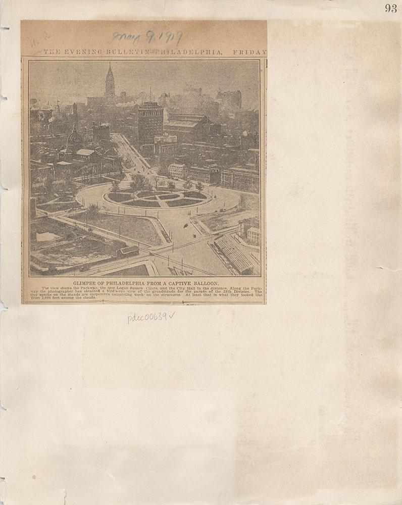 Castner Scrapbook v.7, Walks, Views, Maps, page 93