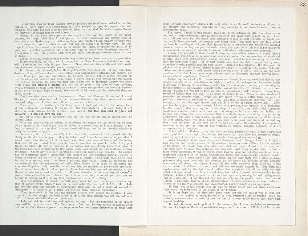 Castner Scrapbook v.8, Financial, page 33