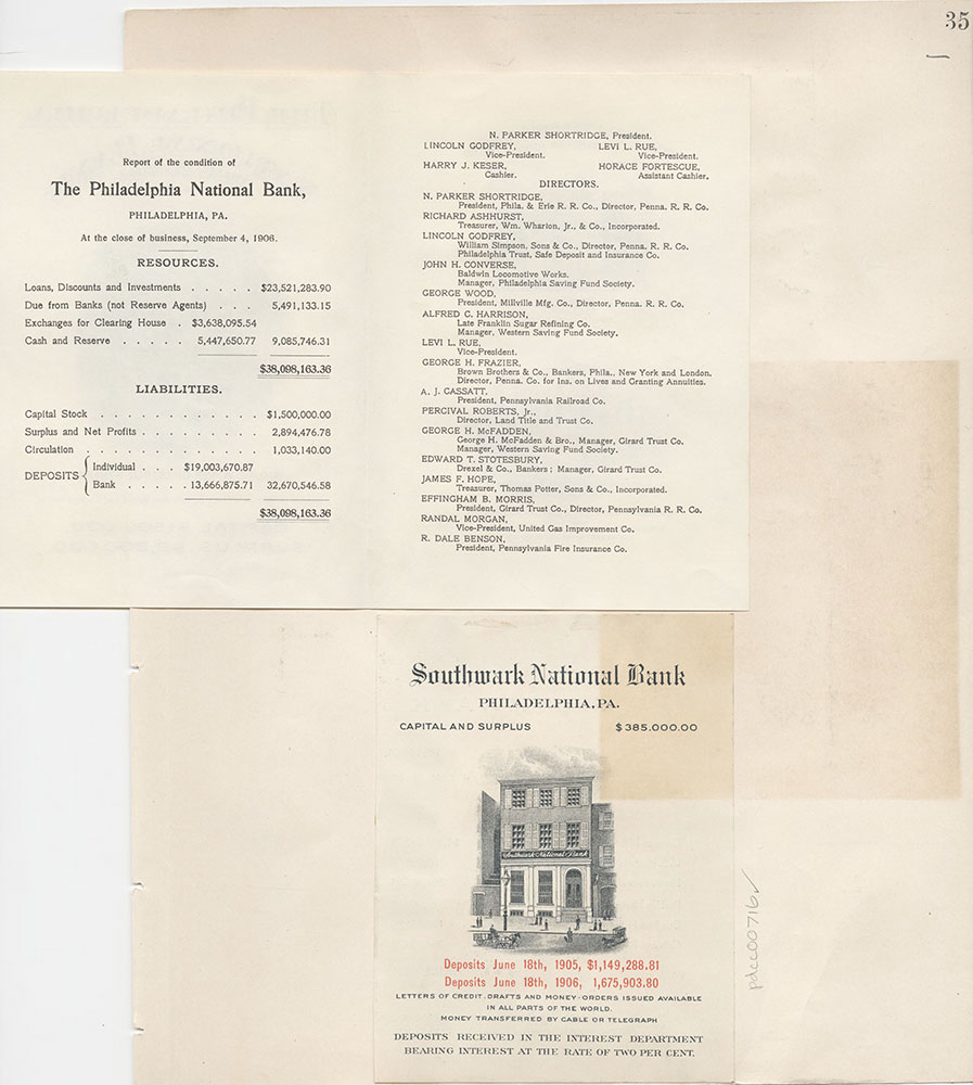 Castner Scrapbook v.8, Financial, page 35