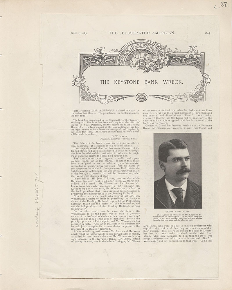 Castner Scrapbook v.8, Financial, page 37