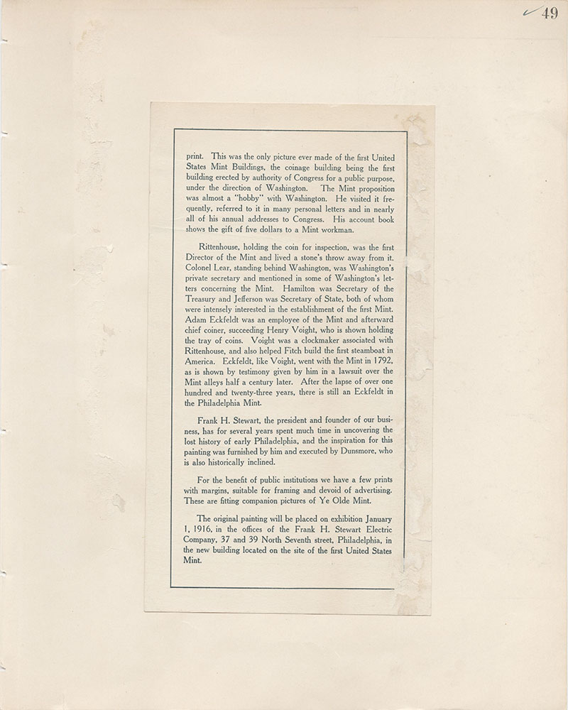 Castner Scrapbook v.8, Financial, page 49