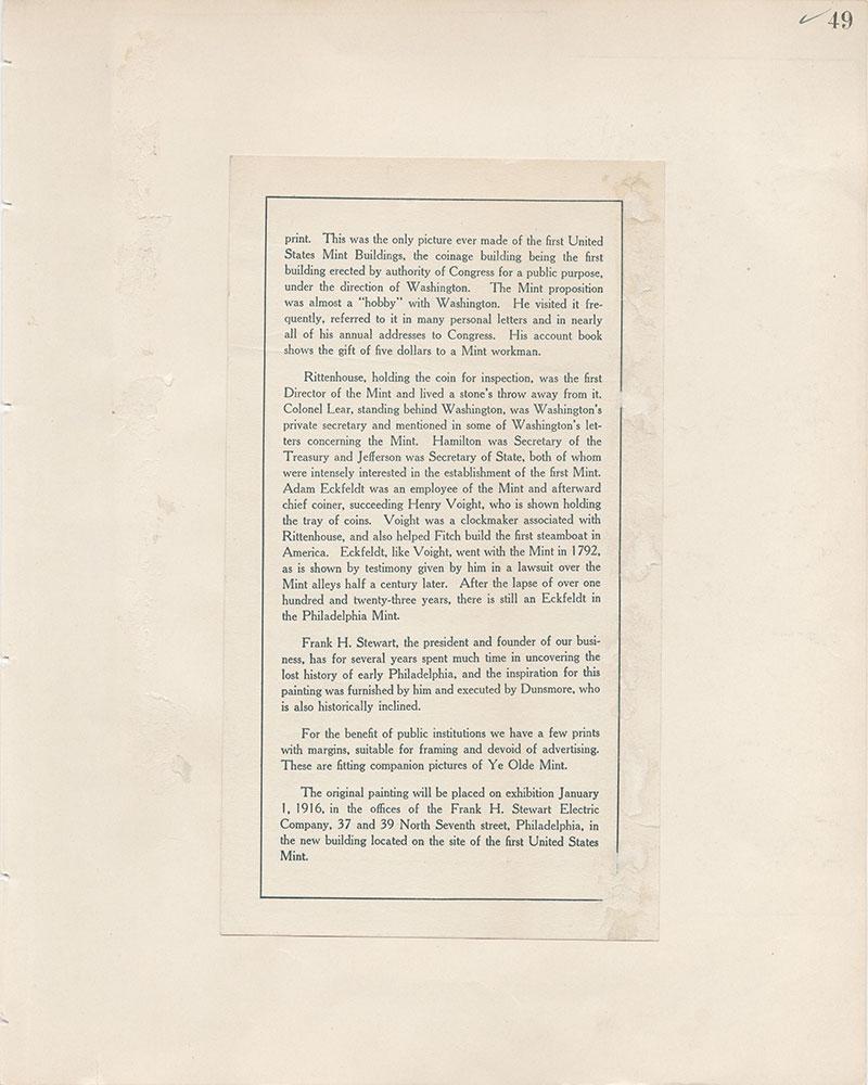 Castner Scrapbook v.8, Financial, page 49