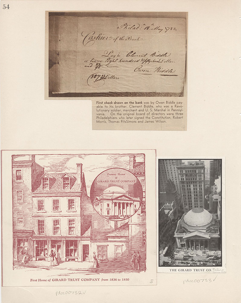 Castner Scrapbook v.8, Financial, page 54