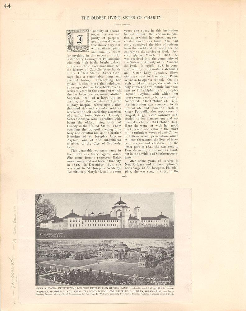Castner Scrapbook v.9, Hospitals, Charitable, page 44