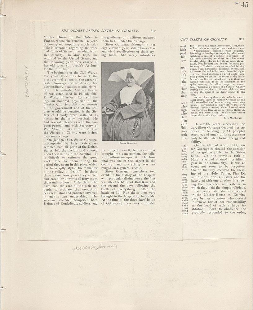 Castner Scrapbook v.9, Hospitals, Charitable, page 45