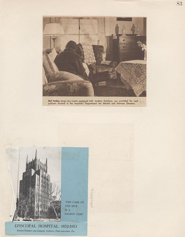 Castner Scrapbook v.9, Hospitals, Charitable, page 83