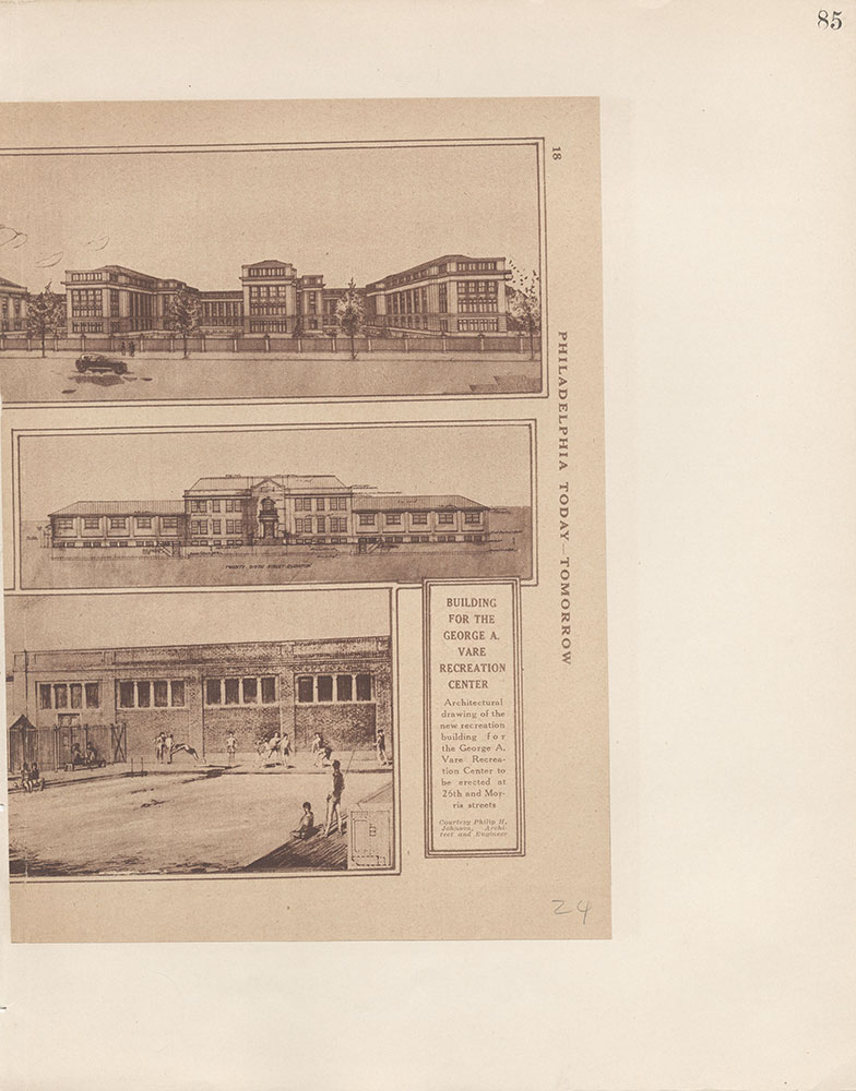 Castner Scrapbook v.9, Hospitals, Charitable, page 85