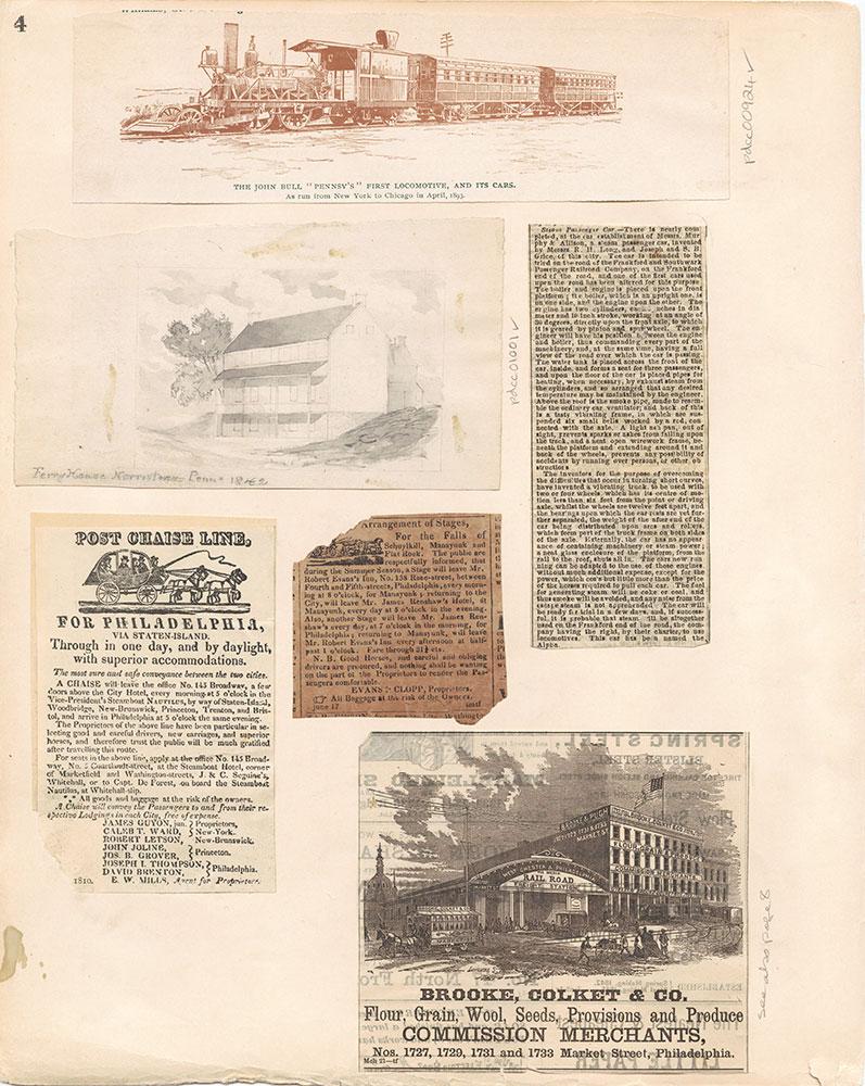 Castner Scrapbook v.10, Transportation, page 4